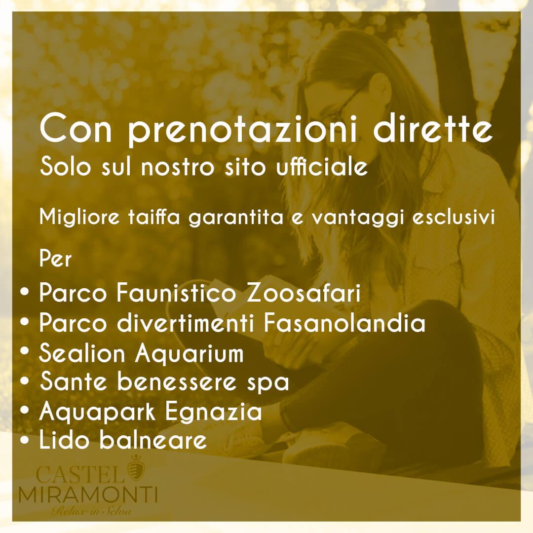 Prenotazioni dirette Miramonti